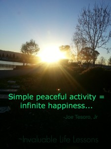 simple peaceful activity