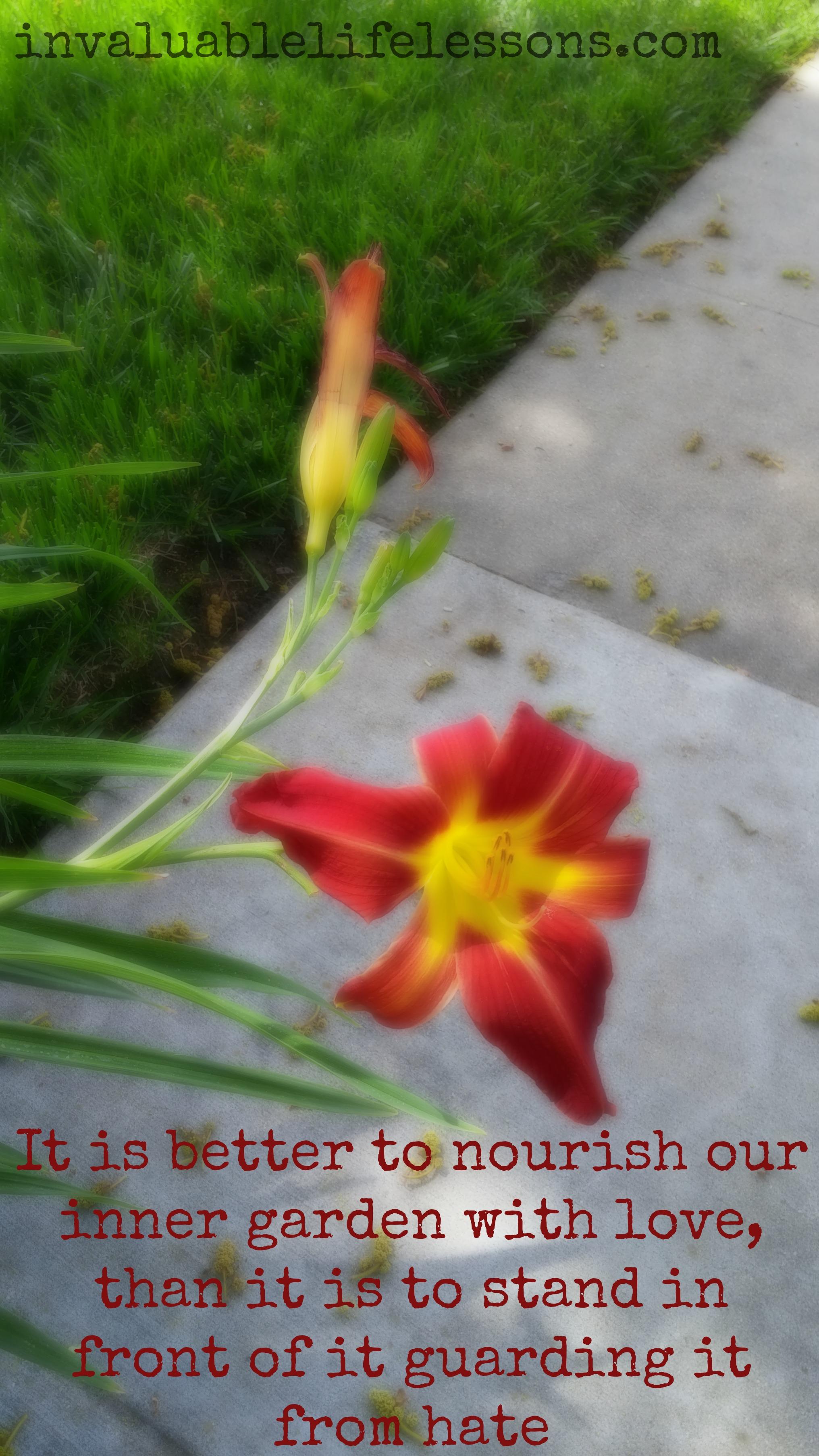 Nourish Our Inner Garden…