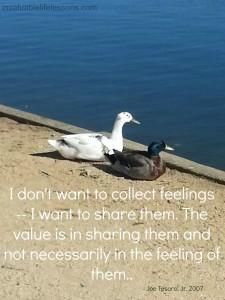 share feelings