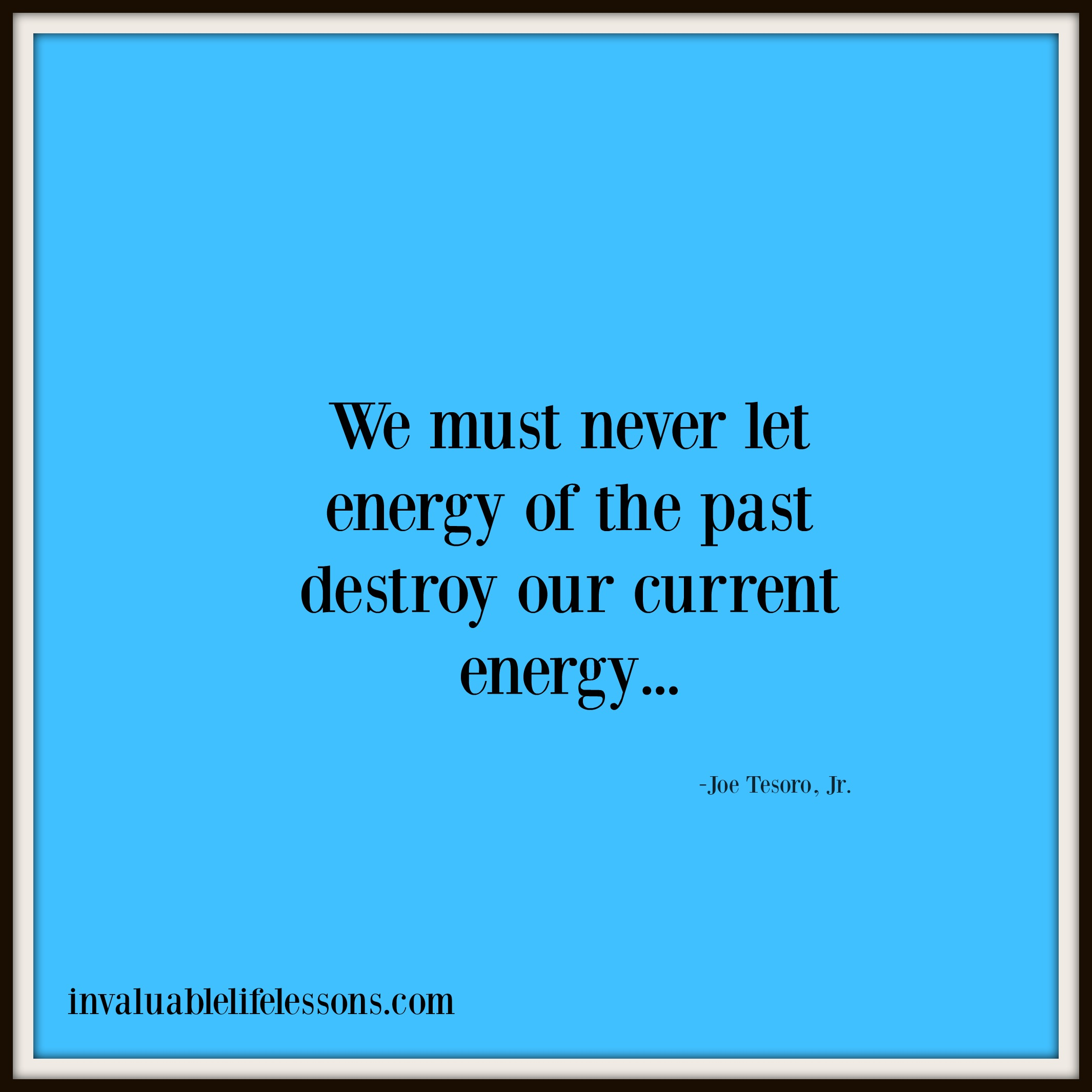 Energy Of The Past…