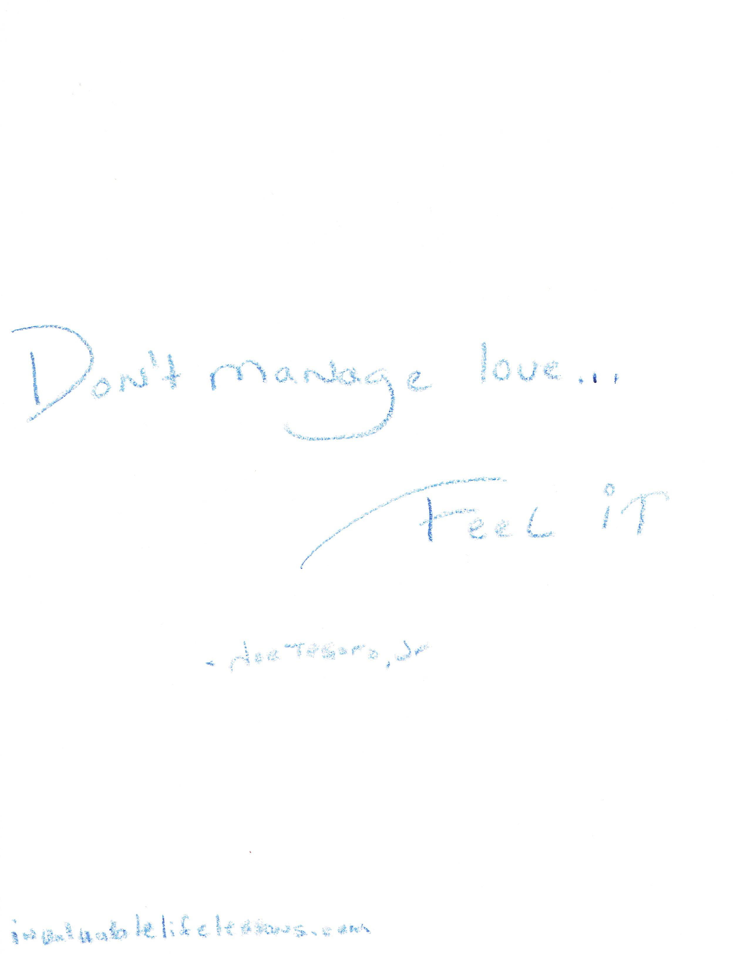 Feel Love…