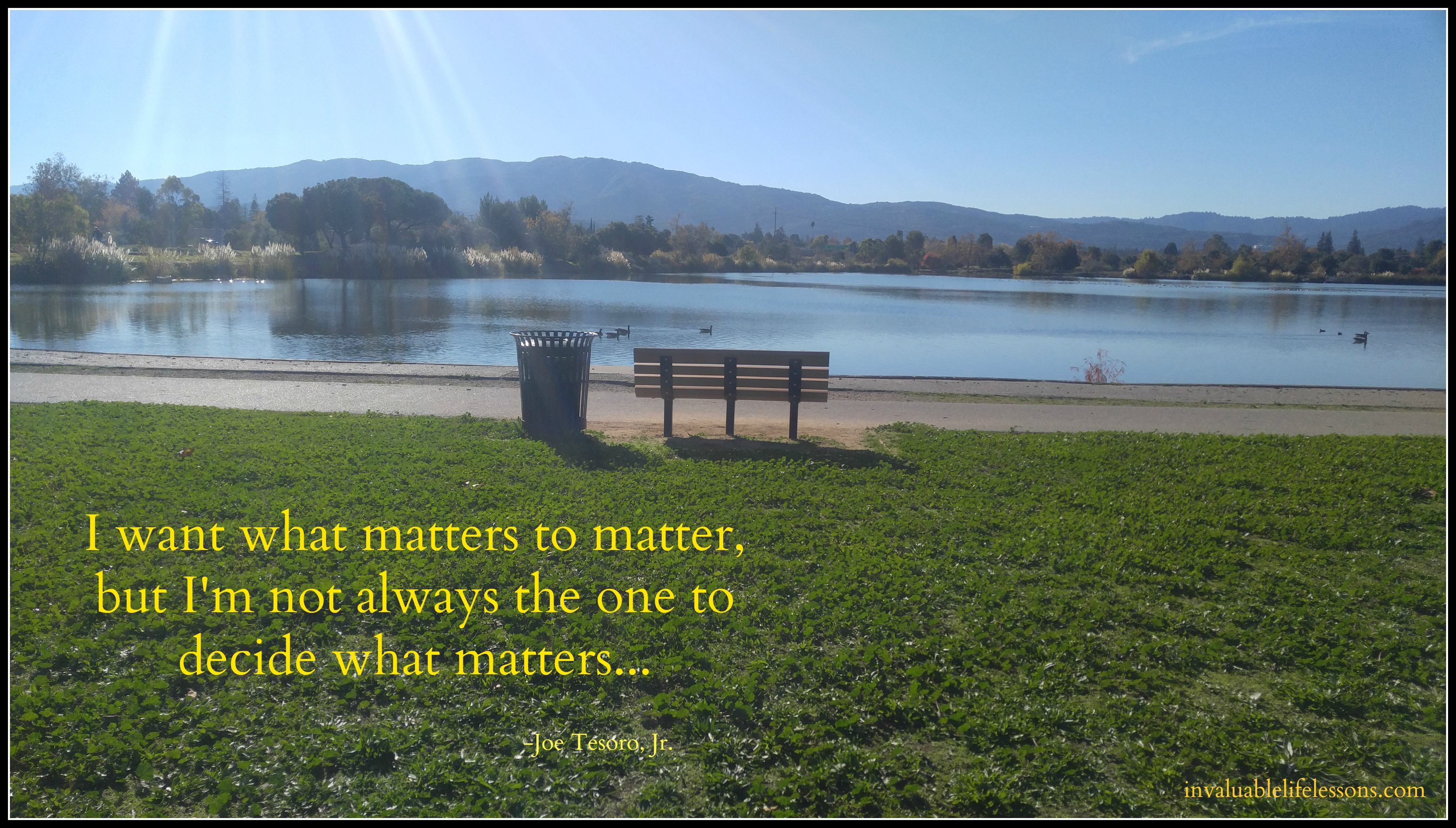 What Matters….